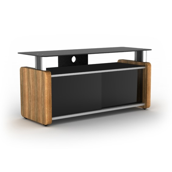 Elmob karya ka 105 02 teck meuble tv elmob sur ldlc for Meuble tv pour grand ecran plat
