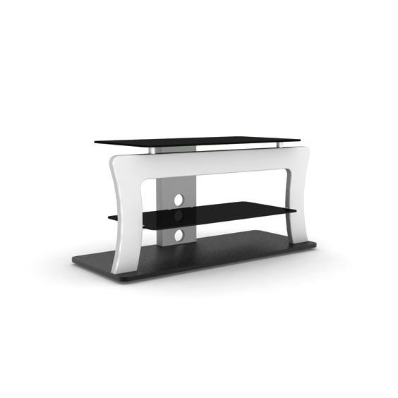 Elmob safran sf 110 01 blanc meuble tv elmob sur ldlc for Meuble tv 49 pouces