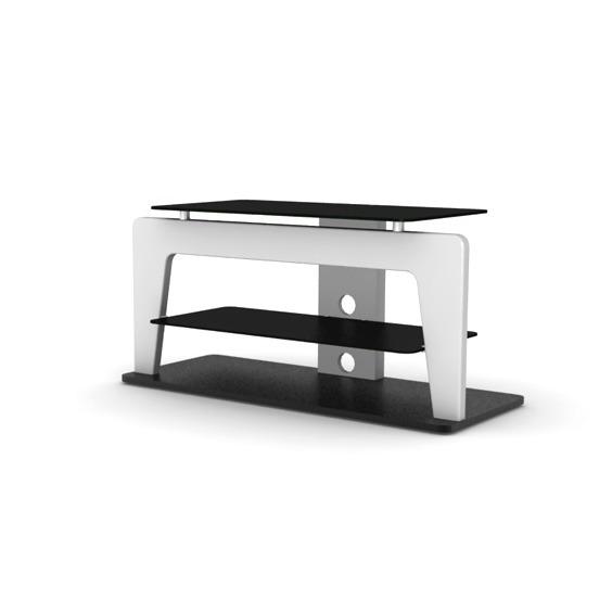 Elmob safran sf 110 02 blanc meuble tv elmob sur ldlc for Meuble tv 49 pouces
