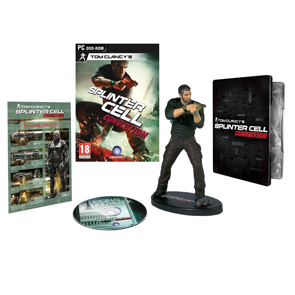 Jeux PC Tom Clancy's Splinter Cell : Conviction - Limited Collector's Edition Tom Clancy's Splinter Cell : Conviction - Limited Collector's Edition (PC)
