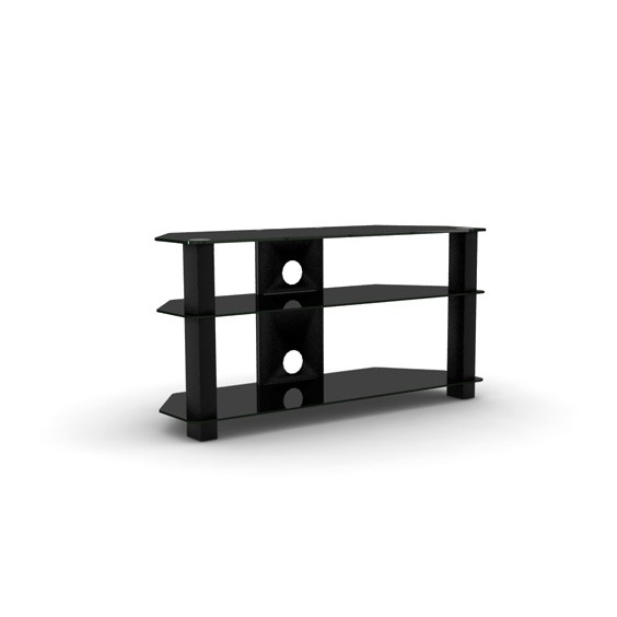 Elmob serra se 100 31 noir meuble tv elmob sur ldlc - Meubles television ecran plat ...