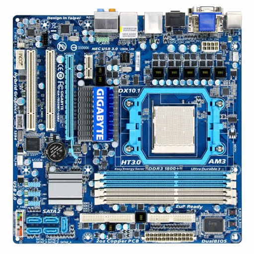 Carte mère Gigabyte GA-785GMT-USB3 Gigabyte GA-785GMT-USB3 (AMD 785G) - Micro ATX