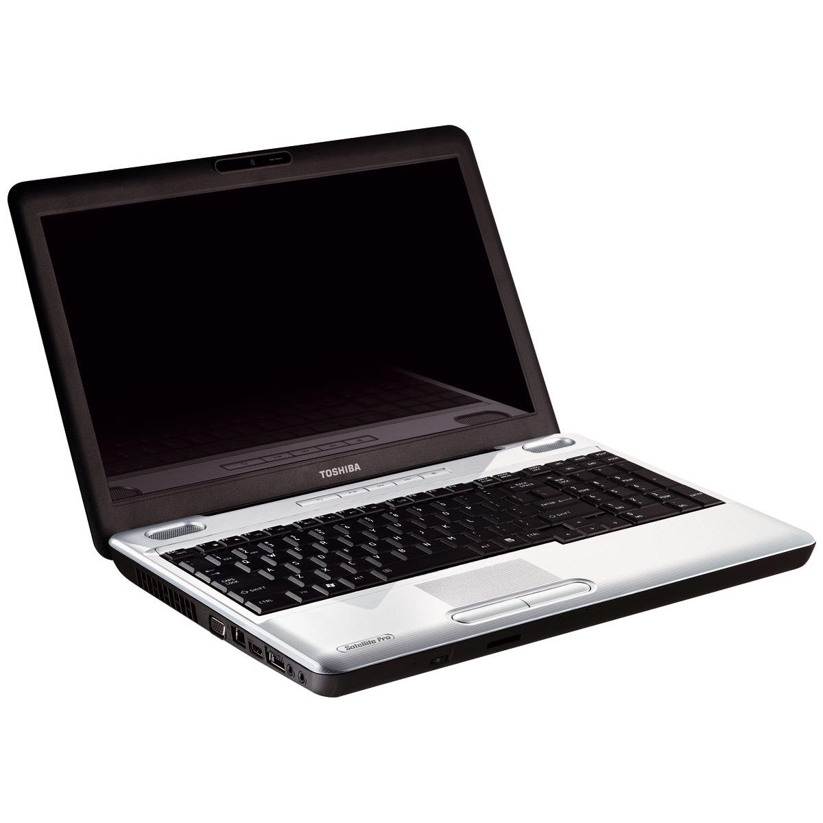 "PC portable Toshiba Satellite Pro L500-1W7 Toshiba Satellite Pro L500-1W7 - Intel Core i5-430M 4 Go 500 Go 15.6"" LED Graveur DVD Wi-Fi N/Bluetooth Webcam Windows 7 Professionnel 32 bits + XP Pro"