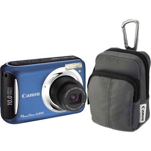 Canon powershot a495 bleu housse canon dcc 480 for Housse appareil photo canon