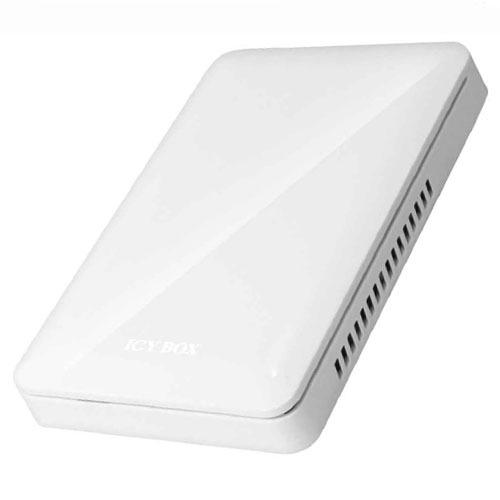"""Boîtier disque dur ICY BOX IB-226StUE2-Wh ICY BOX IB-226StUE2-Wh - Boîtier externe 2""""1/2 sur port USB 2.0 / FireWire 400 / FireWire 800 (blanc)"""