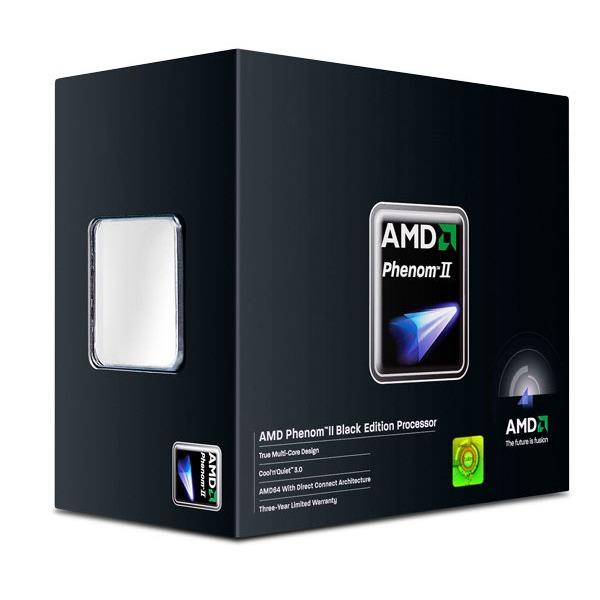 Processeur AMD Phenom II X6 1090T Black Edition (3.2 GHz) Processeur 6 Core Socket AM3 0.045 micron Cache L2 3 Mo Cache L3 6 Mo (version boîte - garantie constructeur 3 ans)