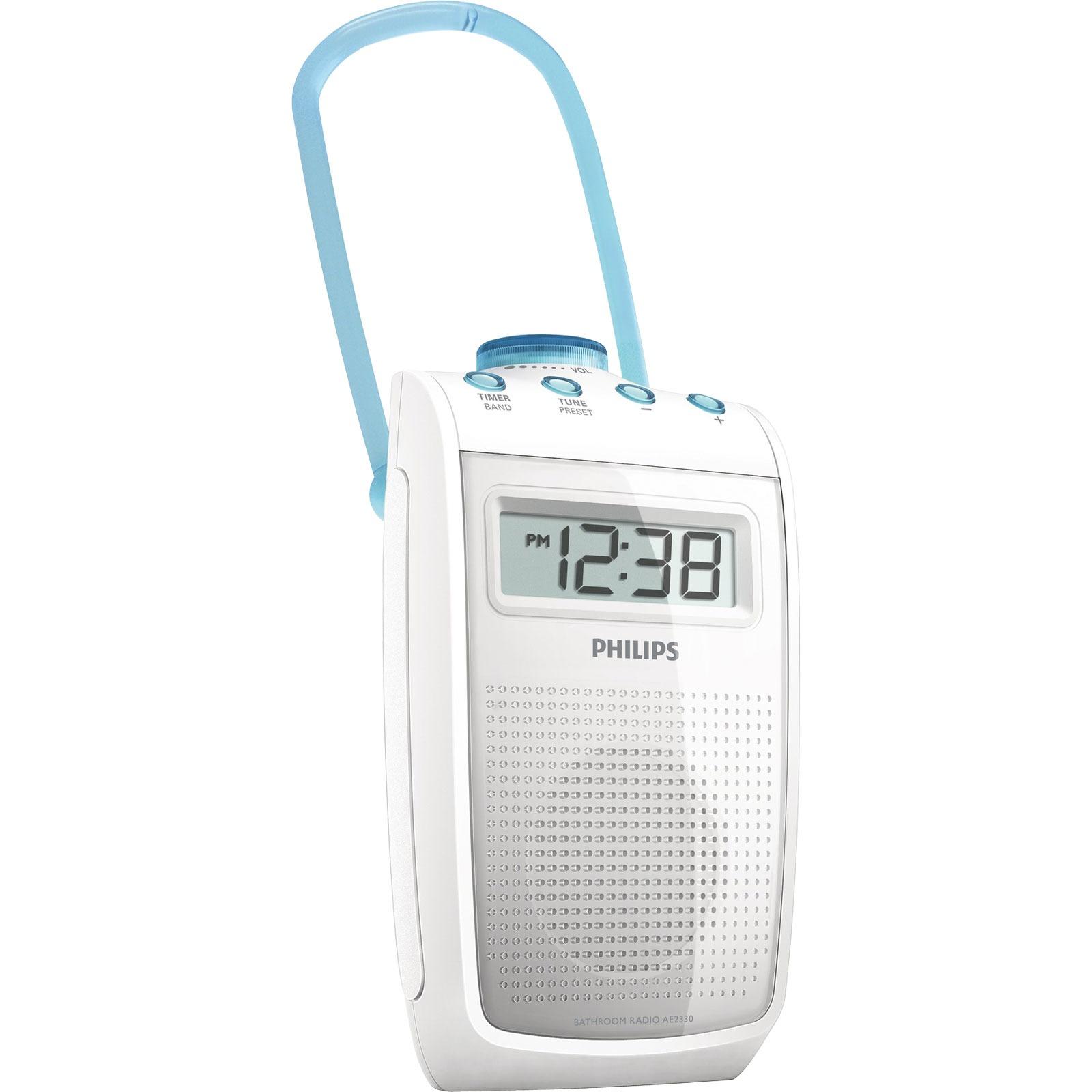 Philips ae2330 radio radio r veil philips sur ldlc for Reveil de salle de bain