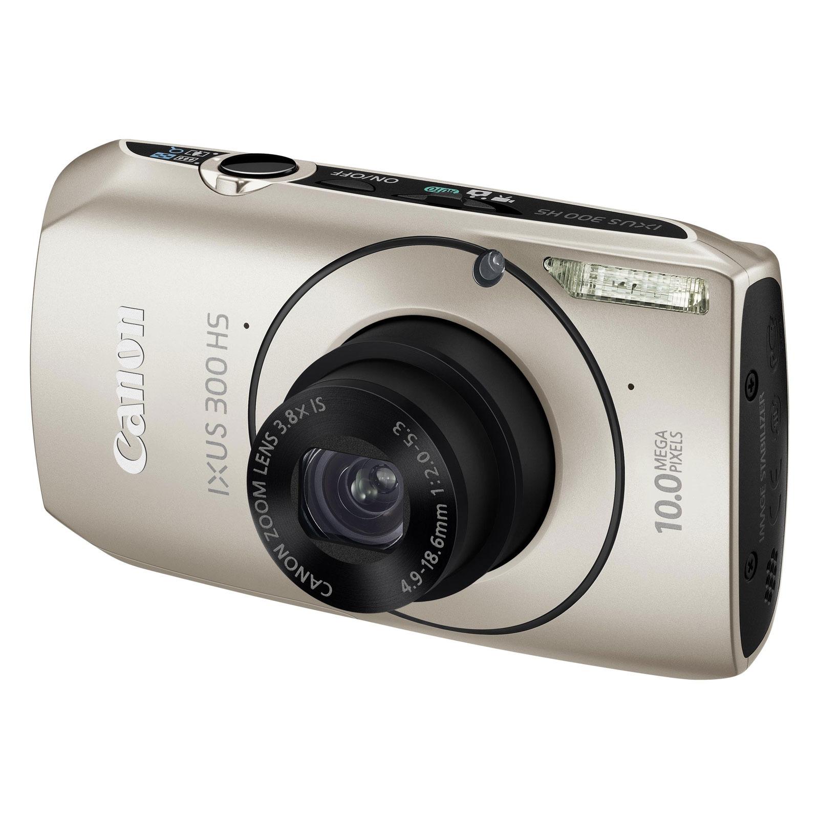 Appareil photo numérique Canon IXUS 300 HS Argent Canon IXUS 300 HS Argent - Appareil photo 10 MP - Zoom 3.8x - Vidéo HD