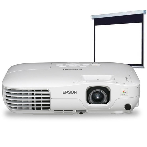 Vidéoprojecteur Epson EB-X8 Epson EB-X8 + Ecran LDLC - Vidéoprojecteur LCD XGA 2500 Lumens + Ecran manuel format 4:3 - 200 x 150 cm