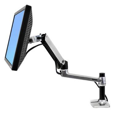 Bras & Pied Ergotron LX Bras de bureau pour moniteur LCD (argent/noir)