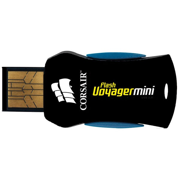 Clé USB Corsair Flash Voyager Mini USB 2.0 16 GB Corsair Flash Voyager Mini - Clé USB 2.0 16 Go - Produit reconditionné* (Garantie 1 an)