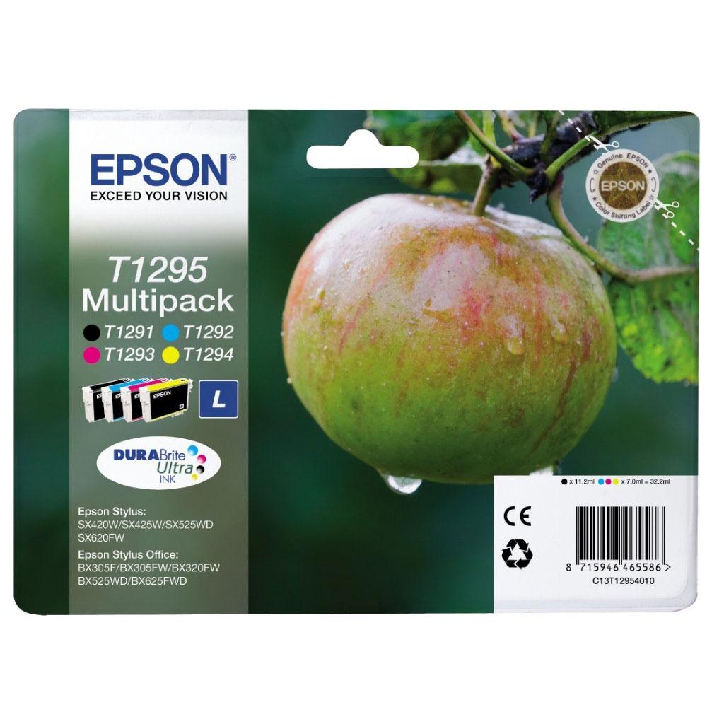Cartouche imprimante Epson T1295 MultiPack Pack de 4 cartouches noire, cyan, magenta, jaune