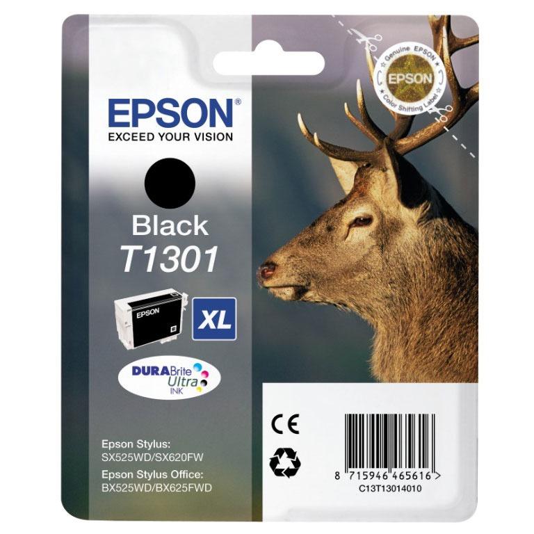 Cartouche imprimante Epson T1301 XL Cartouche d'encre noire haute capacité