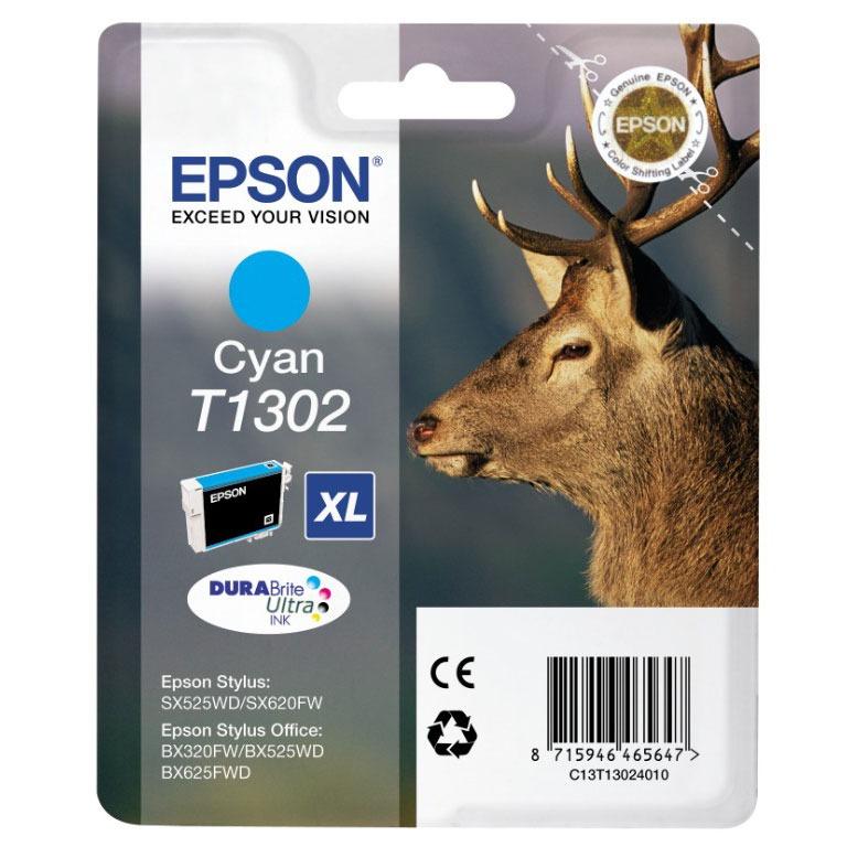 Cartouche imprimante Epson T1302 XL Cartouche d'encre cyan haute capacité