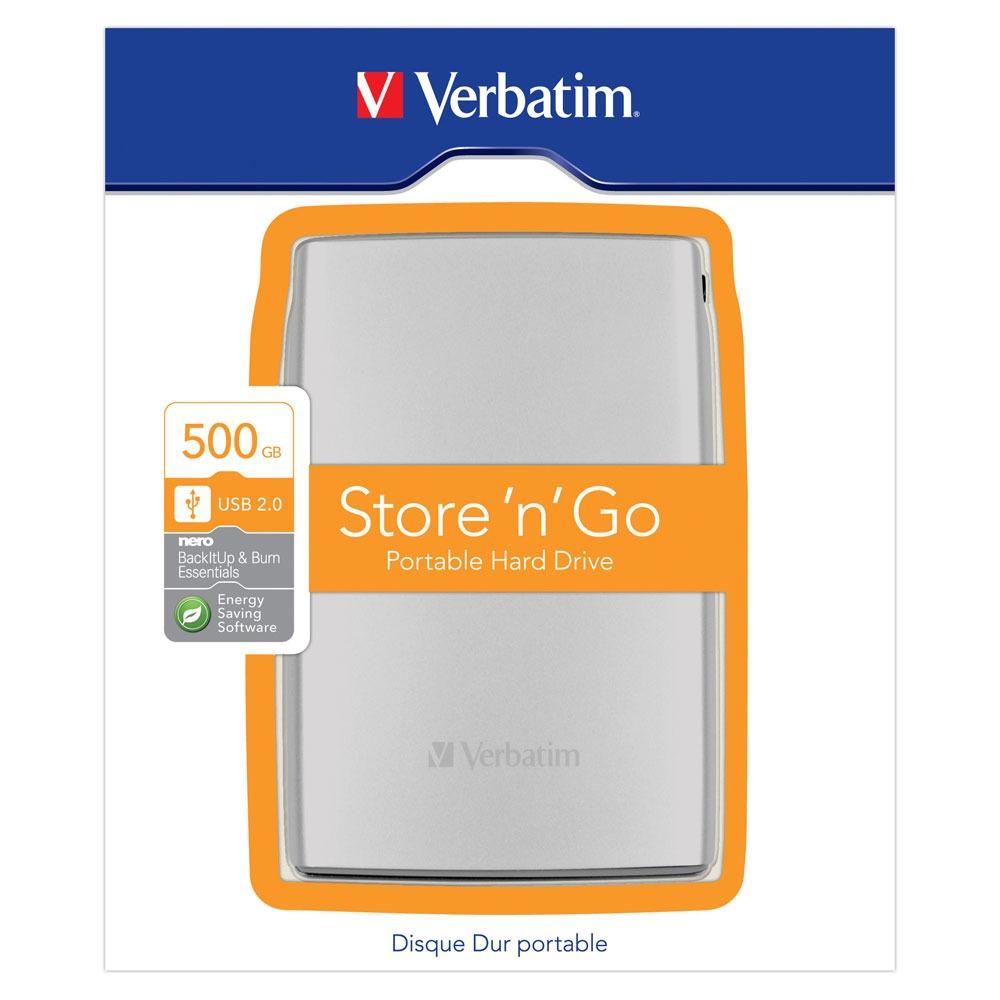 verbatim disque dur portable store 39 n 39 go 500 go disque dur externe verbatim sur ldlc. Black Bedroom Furniture Sets. Home Design Ideas