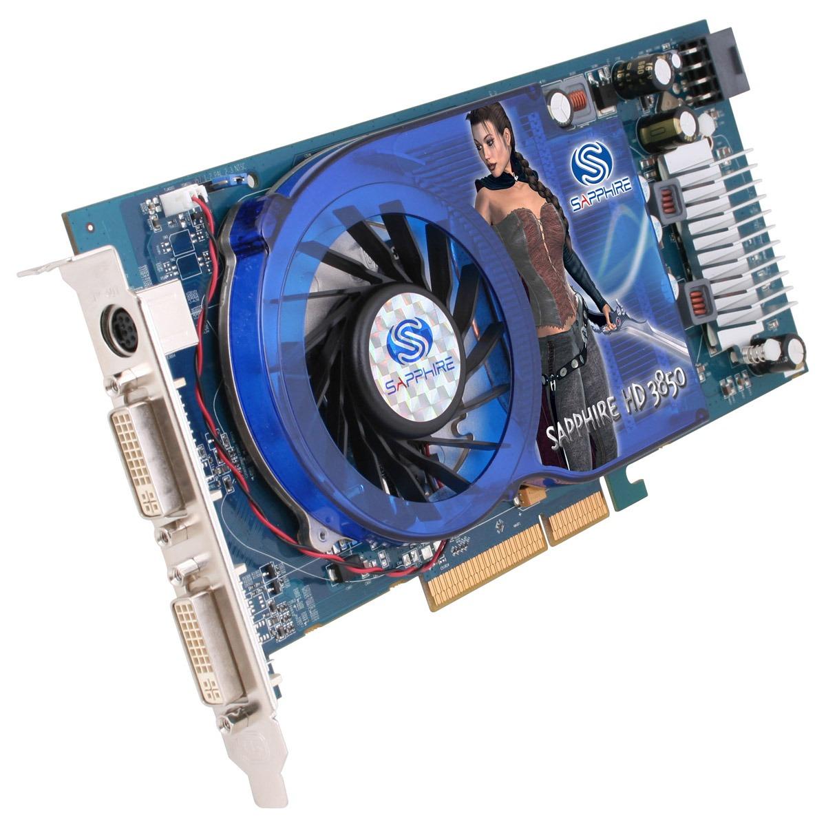 Carte graphique Sapphire Radeon HD 3850 512 MB Sapphire Radeon HD 3850 - 512 Mo TV-Out/Dual DVI - AGP (ATI Radeon HD 3850)