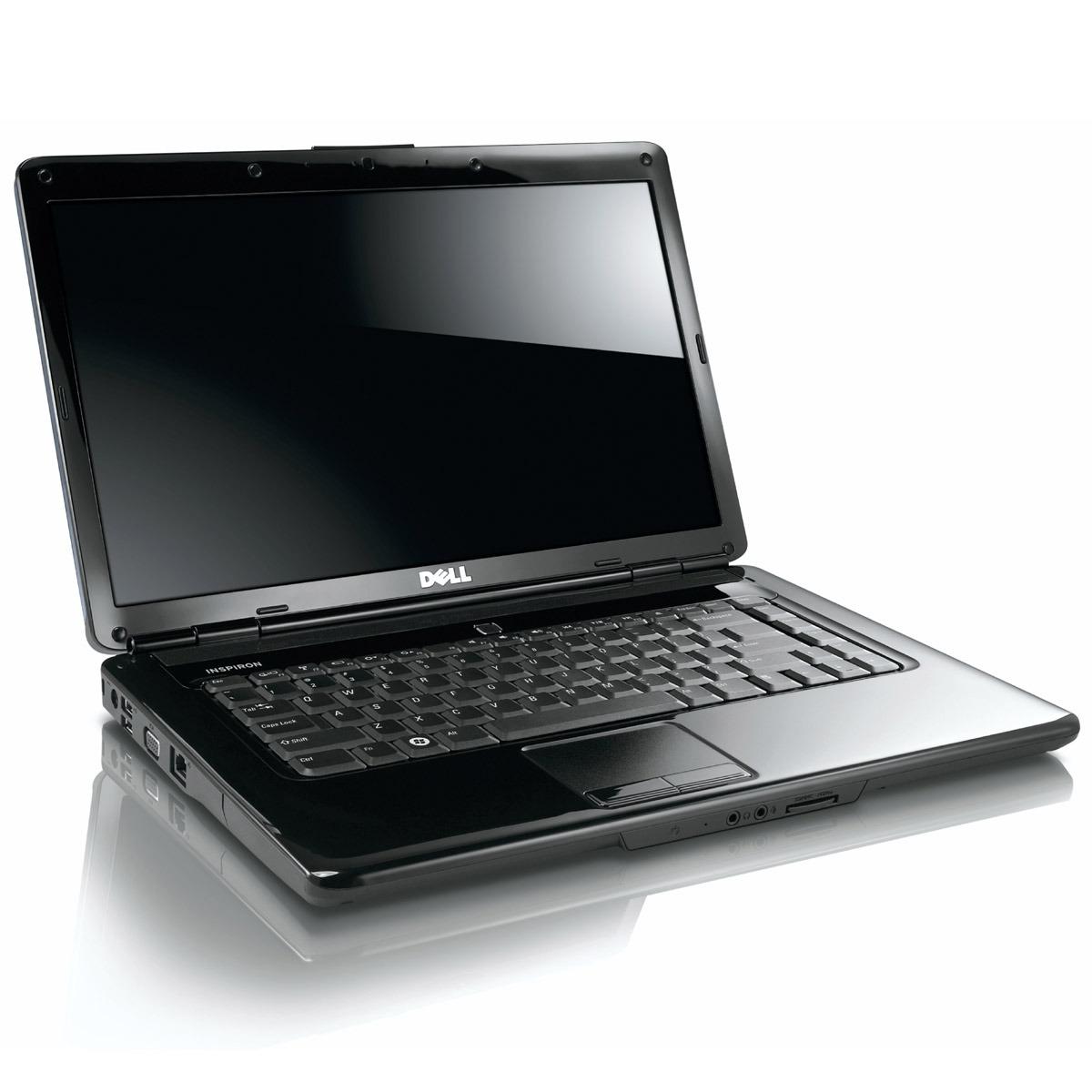 """PC portable Dell Inspiron 1545 Noir Dell Inspiron 1545 Noir - Intel Pentium Dual-CoreT4500 3 Go 250 Go 15.6"""" LCD Graveur DVD Wi-Fi G Webcam Windows 7 Premium 64 bits"""