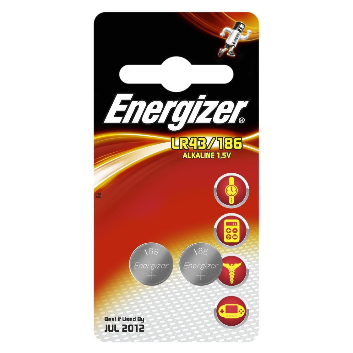 """Pile bouton Energizer Pile """"bouton"""" LR43 (pack de 2) Energizer Pile """"bouton"""" LR43 (pack de 2)"""