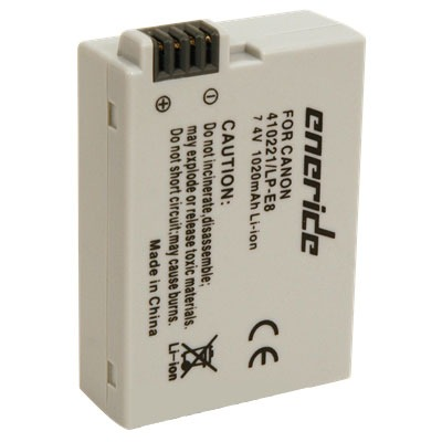 Batterie appareil photo Eneride Batterie compatible LP-E8 Batterie compatible LP-E8 (pour Canon EOS 550D)