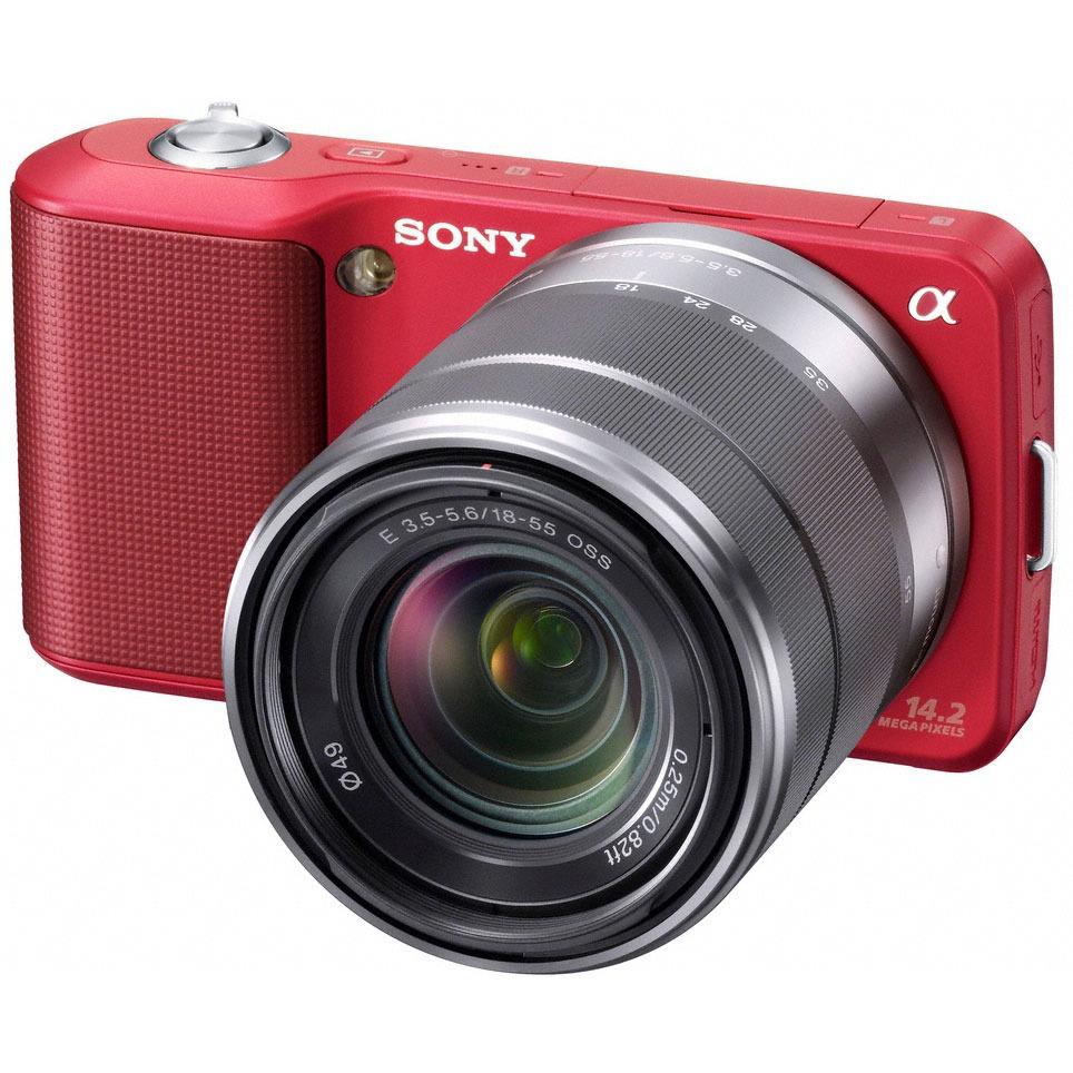 Sony nex 3 rouge objectif 18 55 mm appareil photo for Housse appareil photo hybride