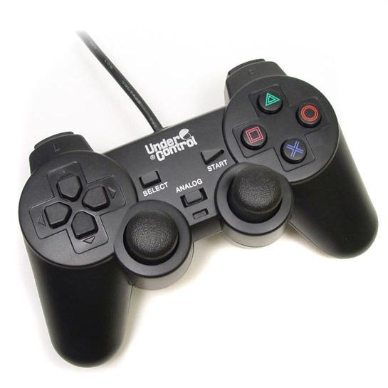 under control manette vibrante shockcontroller noire ps2 achat vente accessoires ps3 sur. Black Bedroom Furniture Sets. Home Design Ideas