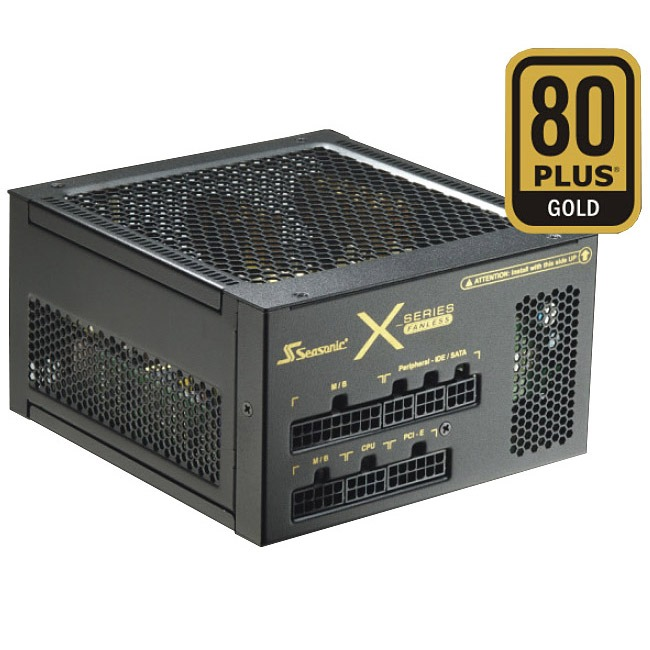 Alimentation PC Seasonic X-460 Fanless 80PLUS Gold Alimentation 460W ATX 12V/EPS 12V - 80PLUS Gold