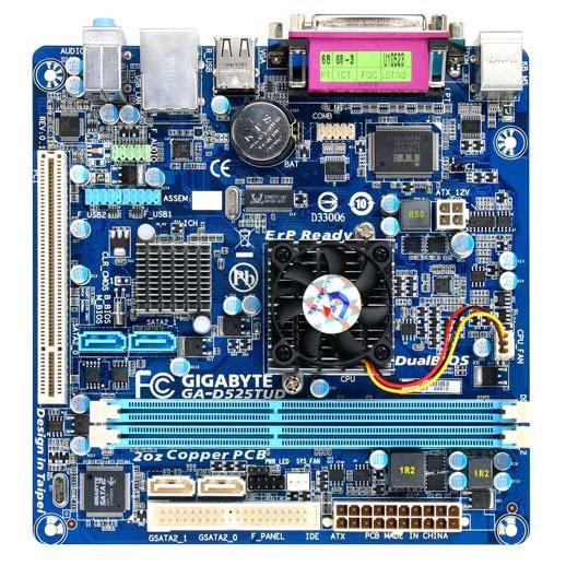 Carte mère Gigabyte GA-D525TUD Carte mère Mini ITX avec processeur Atom D525 (Intel NM10 Express)