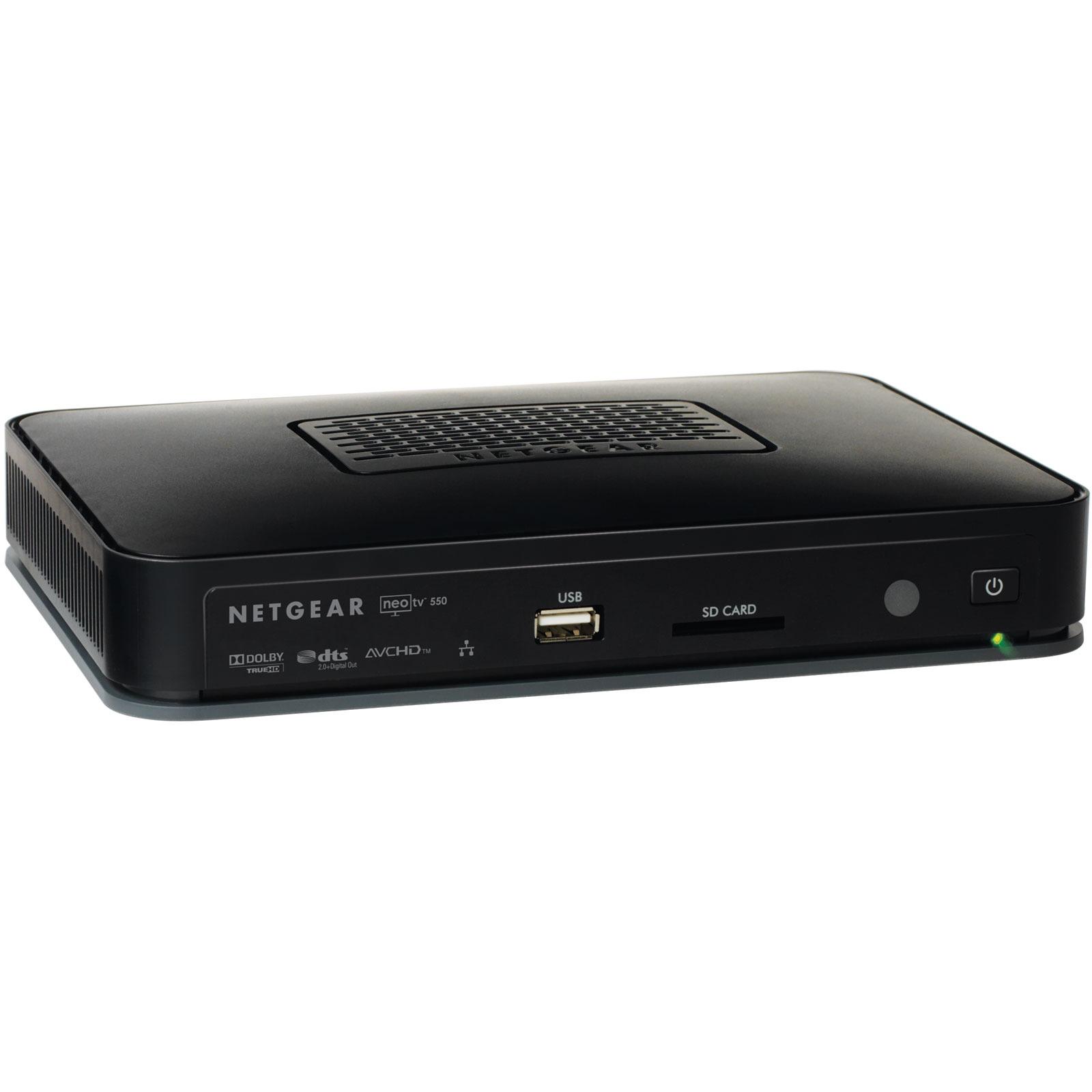 Lecteur multimédia Netgear NeoTV550 Lecteur multimédia en réseau Full HD 1080p compatible Dolby TrueHD et DTS-HD 7.1