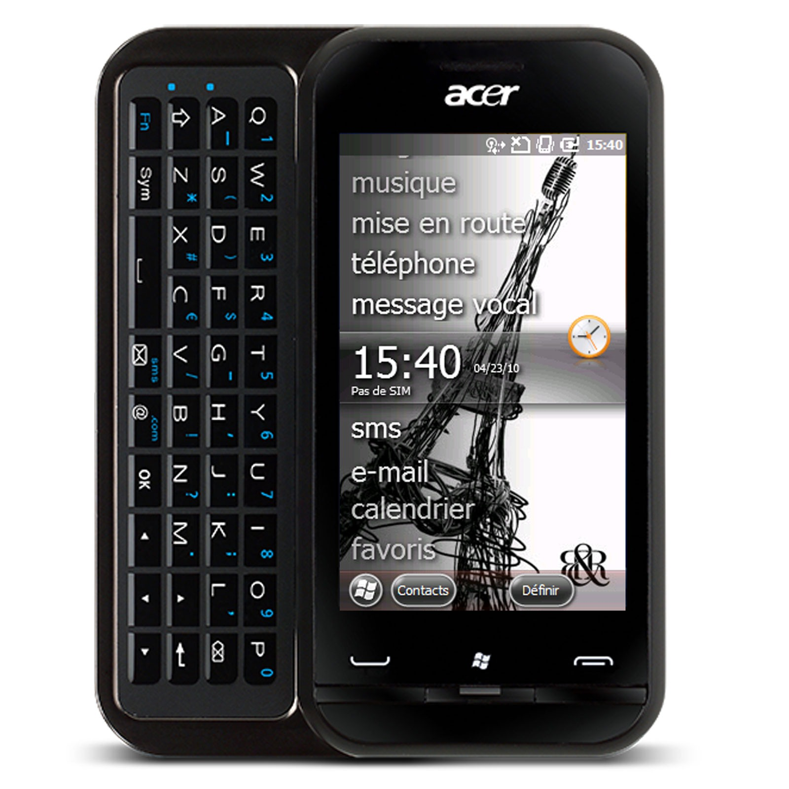acer newtouch p300 noir p300 black achat vente mobile smartphone sur. Black Bedroom Furniture Sets. Home Design Ideas