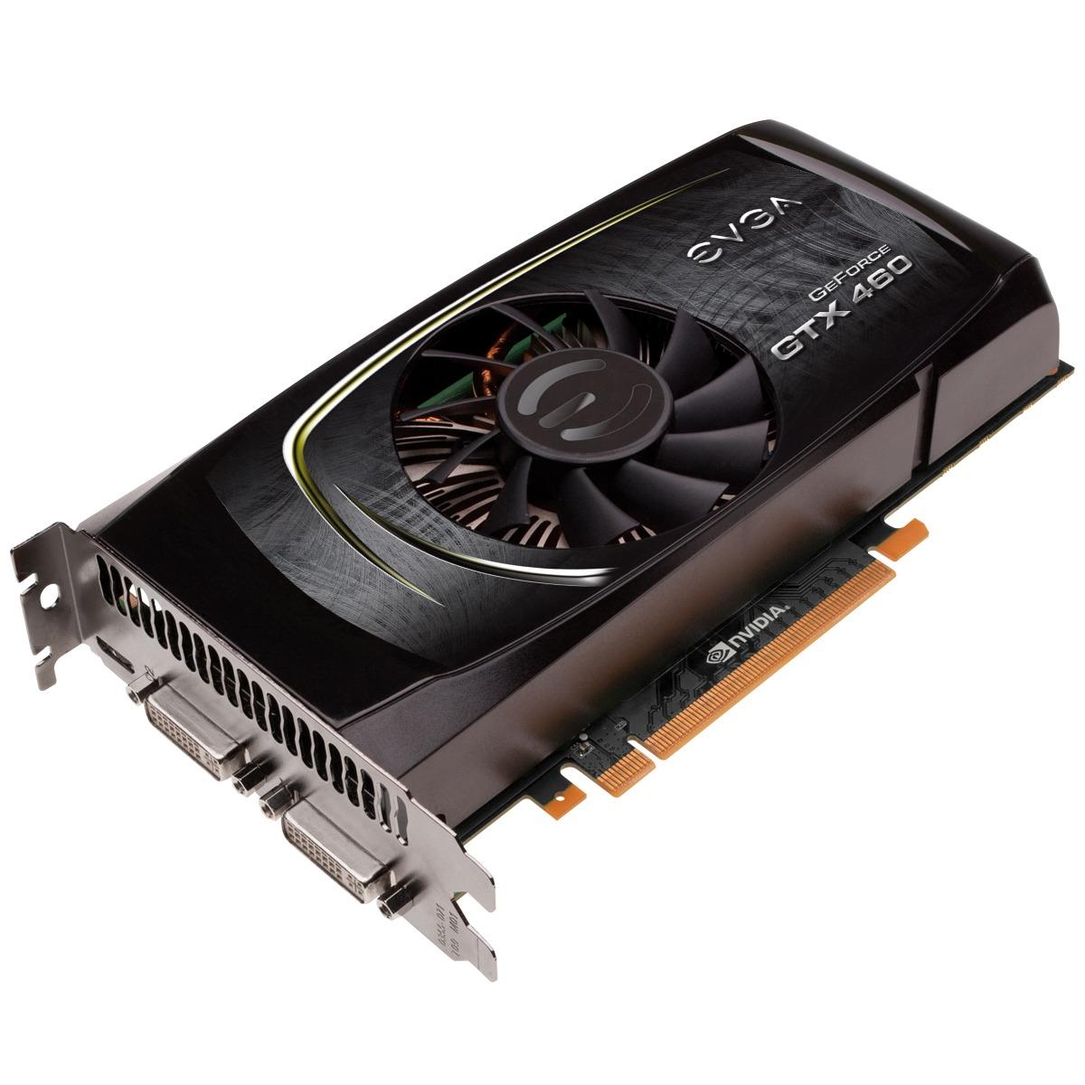 Carte graphique EVGA GeForce GTX 460 768 MB EVGA GeForce GTX 460 - 768 Mo Dual DVI/Mini HDMI - PCI-Express (NVIDIA GeForce avec CUDA GTX 460)