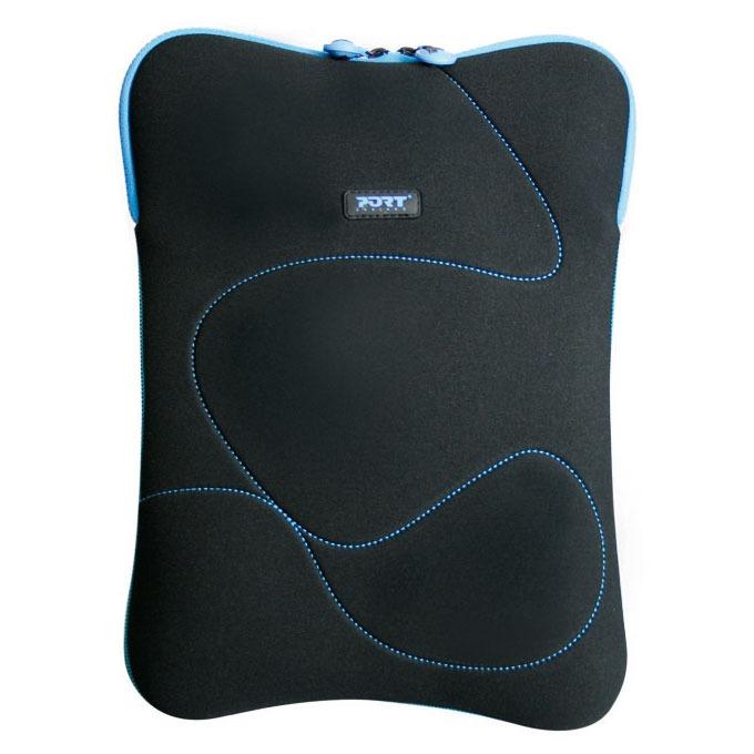Sac, sacoche, housse PORT Designs Delhi 13/14'' (bleu) Housse pour ordinateur portable (jusqu'à 14'') - (coloris noir/bleu)