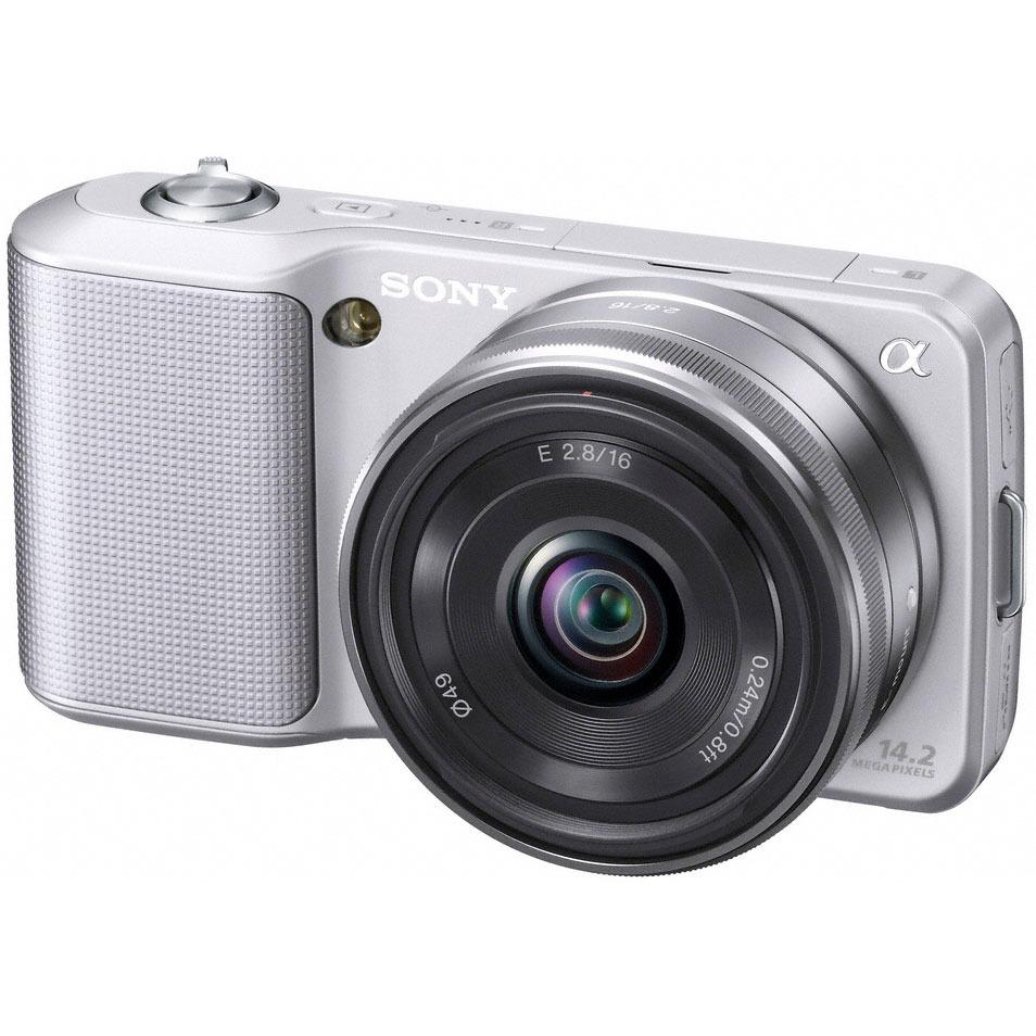 Sony nex 3 argent objectif 16 mm nex3as cee5 achat for Housse appareil photo hybride