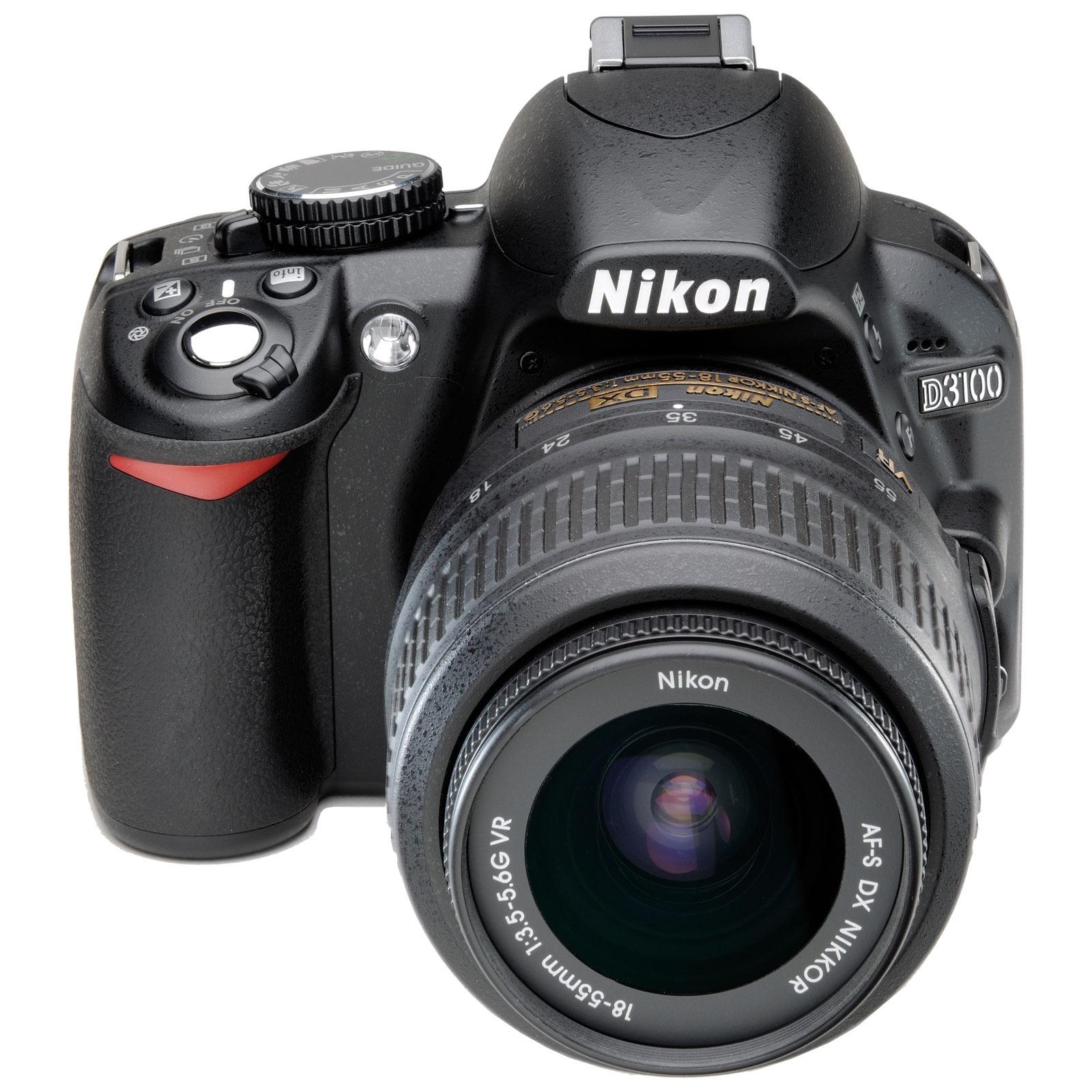 """Appareil photo Reflex Nikon D3100 + Objectifs AF-S DX NIKKOR 18-55 mm VR   AF-S NIKKOR VR DX 55-200 mm f/4-5.6G ED Réflex Numérique 14.2 MP - Ecran 3"""" - Vidéo Full HD + Objectifs AF-S DX NIKKOR 18-55 mm VR   AF-S NIKKOR VR DX 55-200 mm f/4-5.6G ED"""