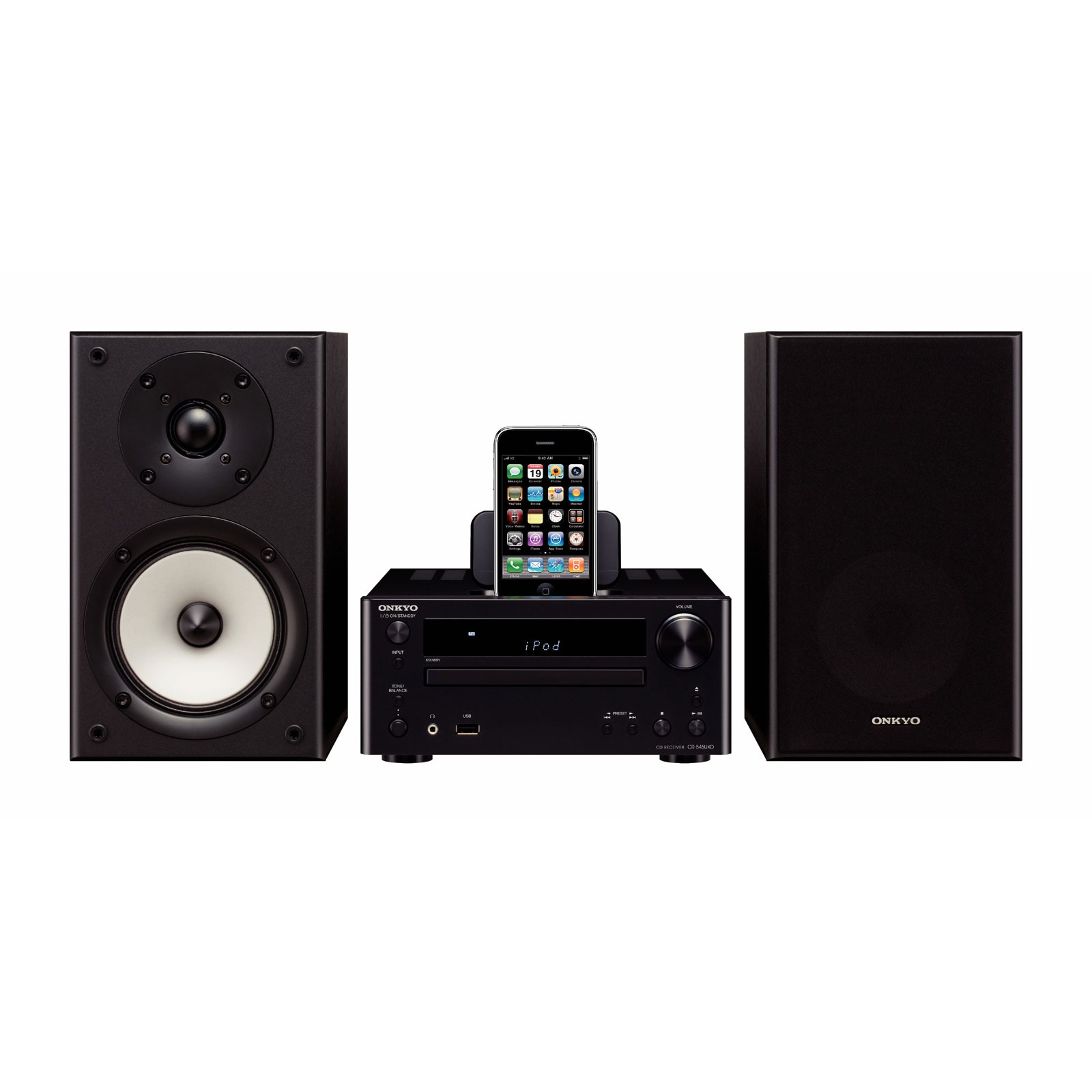 onkyo cs 545 noir cha ne hifi onkyo sur ldlc. Black Bedroom Furniture Sets. Home Design Ideas