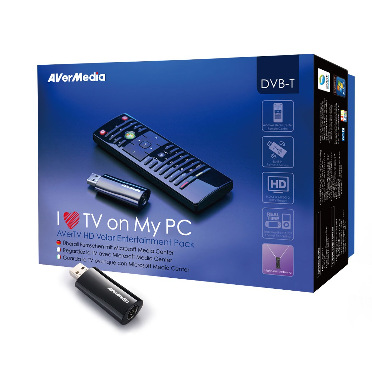 Avermedia avertv hd volar entertainment pack tuner tnt for Image hd pour pc
