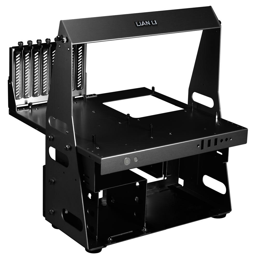 Boîtier PC Lian Li PC-T60 (noir) Banc de test ouvert en aluminium (coloris noir)