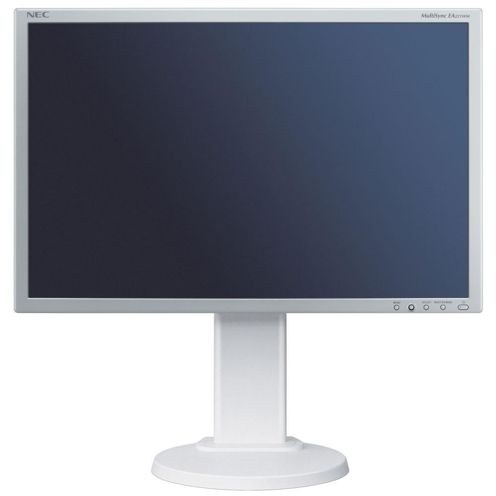 """Ecran PC NEC 22"""" LCD - MultiSync E222W 1680 x 1050 pixels - 5 ms - Format large 16/10 - Pivot - Silver (garantie constructeur 3 ans)"""