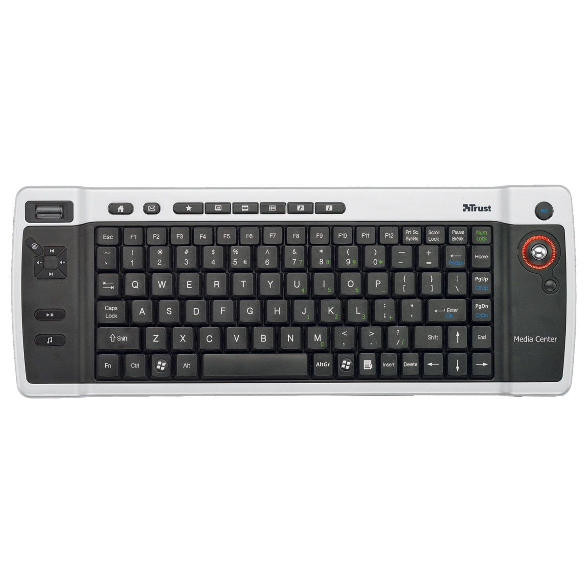 trust wireless entertainment keyboard clavier pc trust sur ldlc. Black Bedroom Furniture Sets. Home Design Ideas