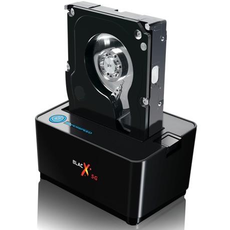 """Accessoires disque dur Thermaltake BlacX 5G Thermaltake BlacX 5G - Station d'accueil pour disque dur SATA 2""""1/2 et 3""""1/2 sur ports USB 3.0"""