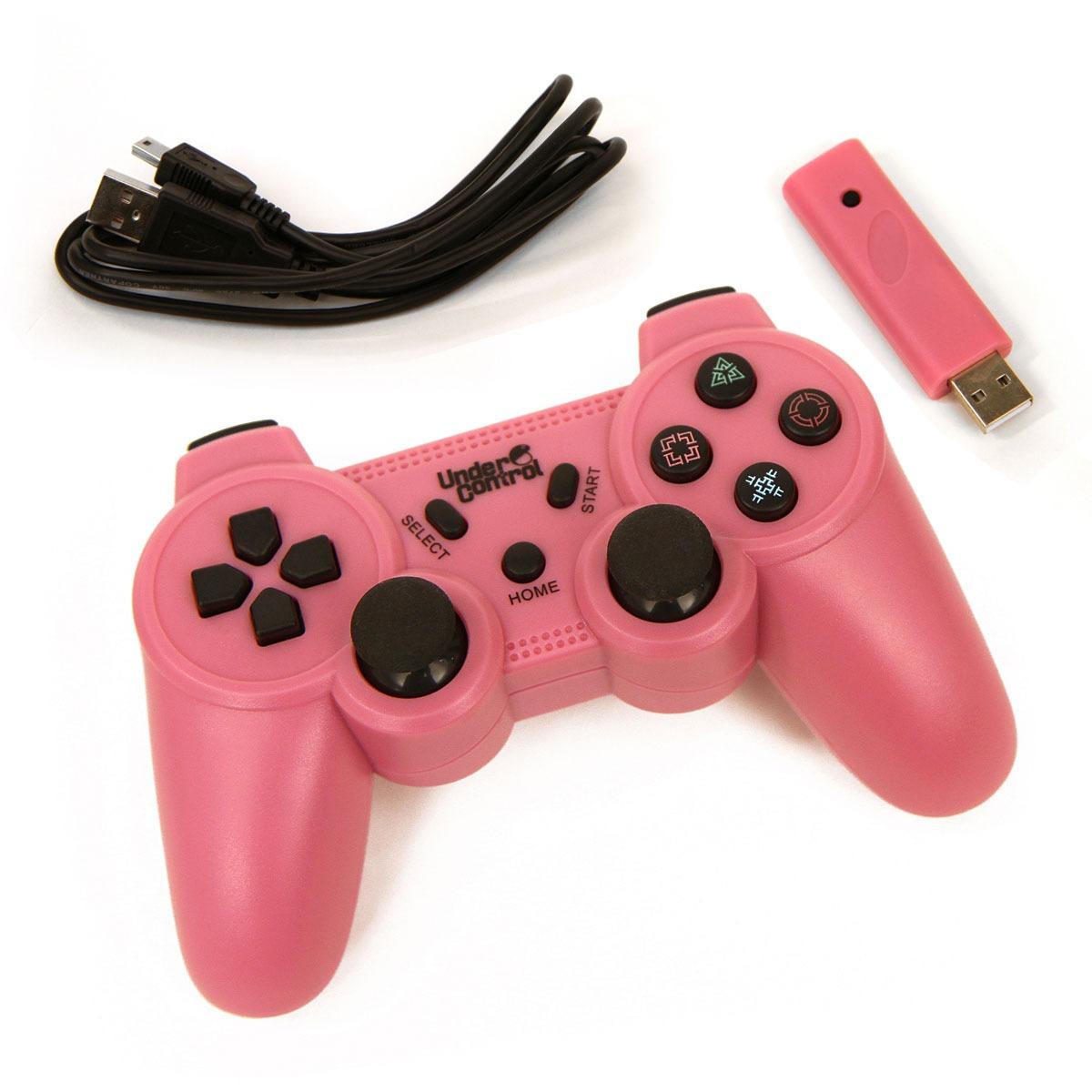 Accessoires PS3 Under Control Wireless Controller - rose (PS3) Under Control Manette sans fil - rose