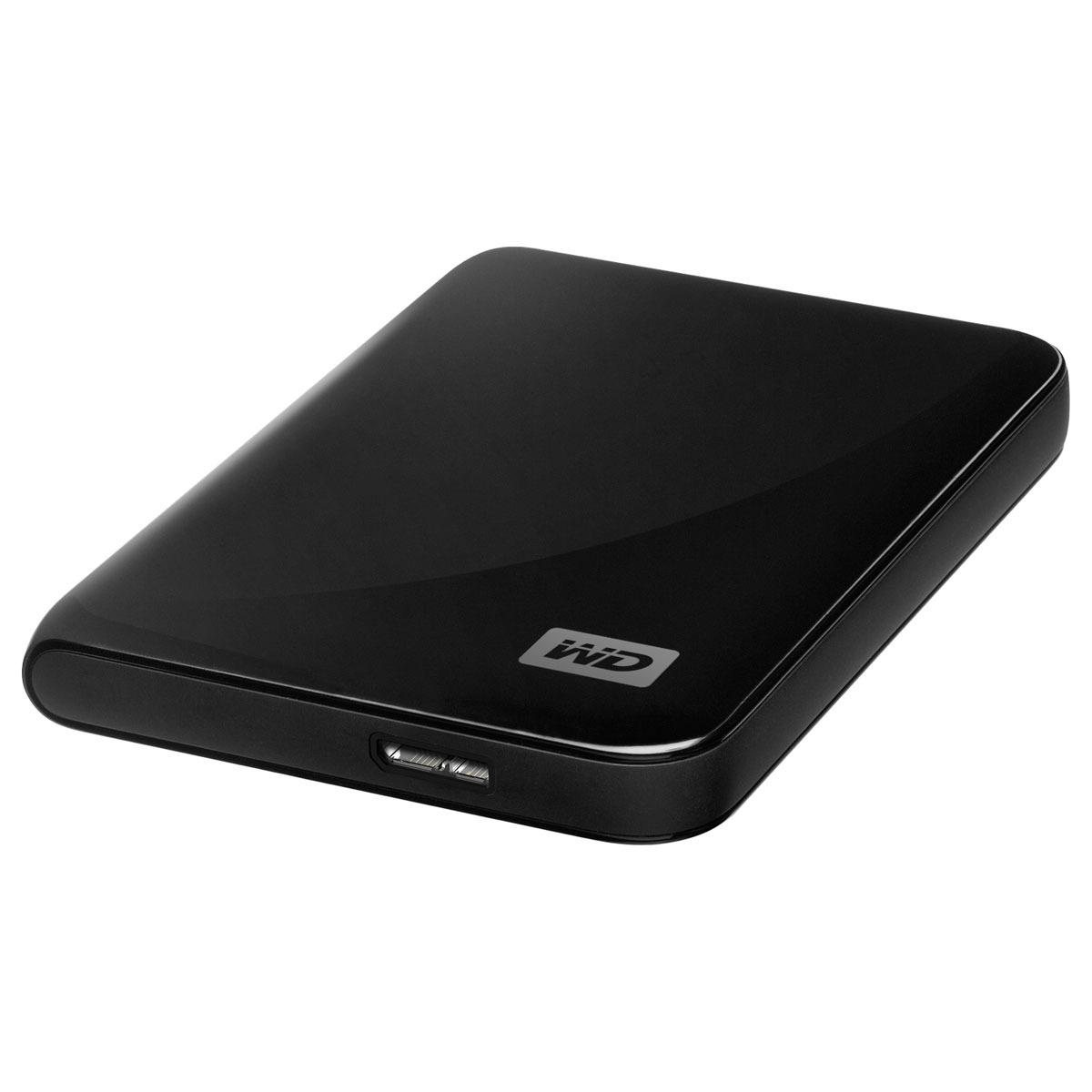 """Disque dur externe Western Digital My Passport Essential 500 Go Noir (USB 3.0) Disque dur externe 2.5"""" sur port USB 3.0/USB 2.0  (garantie constructeur 2 ans)"""