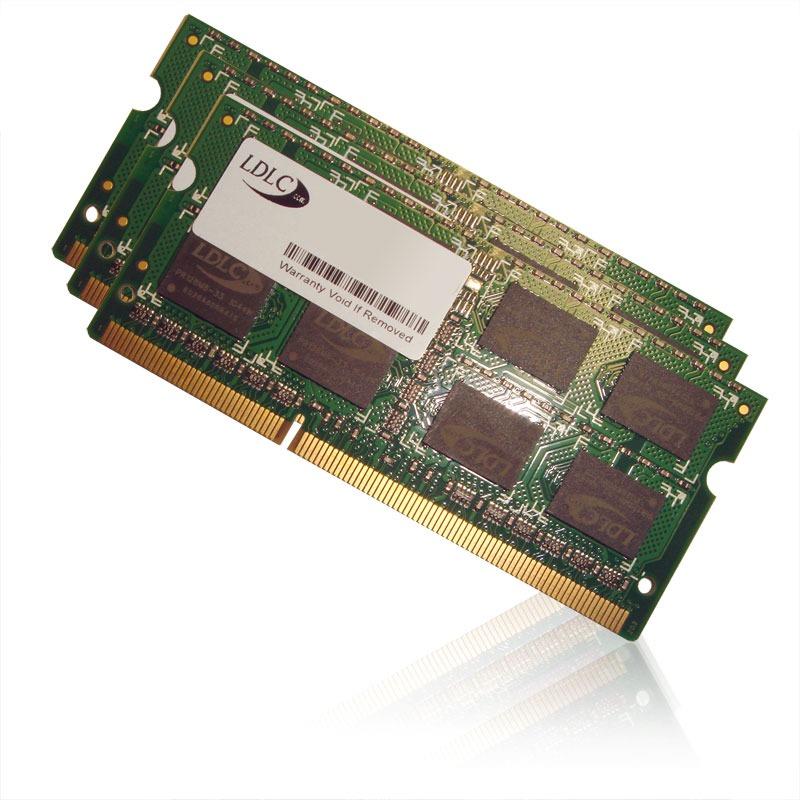 Mémoire PC portable LDLC SO-DIMM 12 Go (3x 4 Go) DDR3 1333 MHz CL9 Kit Triple Channel RAM SO-DIMM DDR3 PC10600