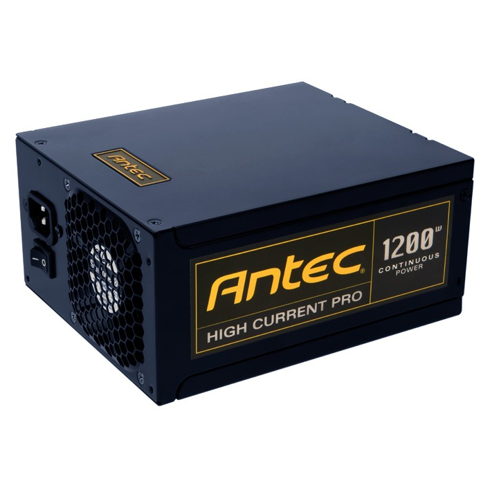 Alimentation PC Antec High Current Pro 1200 80PLUS Gold Alimentation modulaire 1200 Watts ATX12V 2.3 80 PLUS Gold