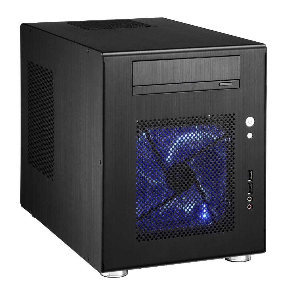 Boîtier PC Lian Li PC-Q08 (noir) Boitier mini-tour en aluminium (coloris noir)