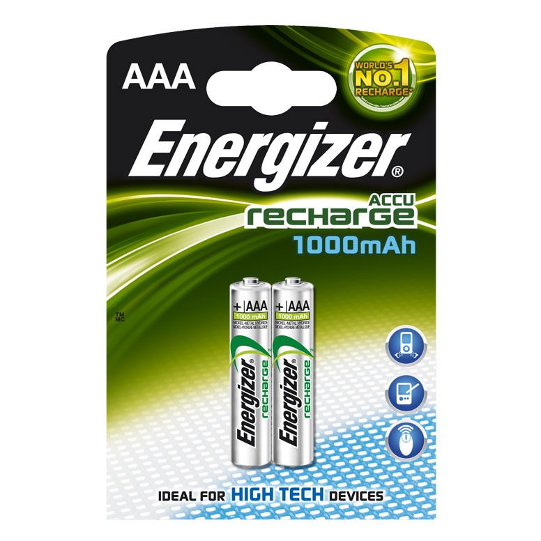 energizer rechargeable 2 piles rechargeables aaa hr3 1000. Black Bedroom Furniture Sets. Home Design Ideas