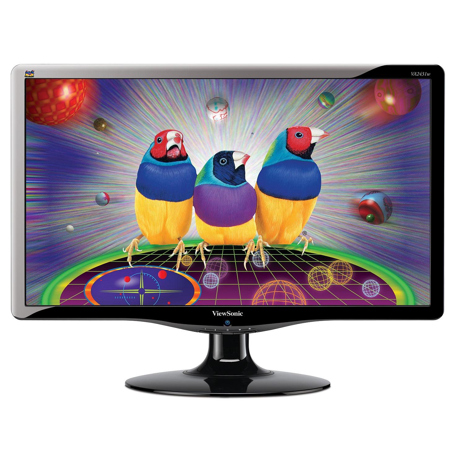 "Ecran PC ViewSonic VA2431w ViewSonic 24"" LCD -VA2431w - 5 ms - Format Large 16/9 (garantie constructeur 3 ans)"