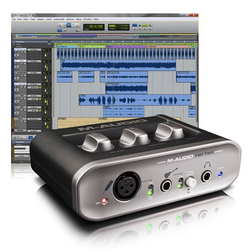 Interface Audio Avid Recording Studio Interface M-Audio Fast Track + logiciel Pro Tools SE