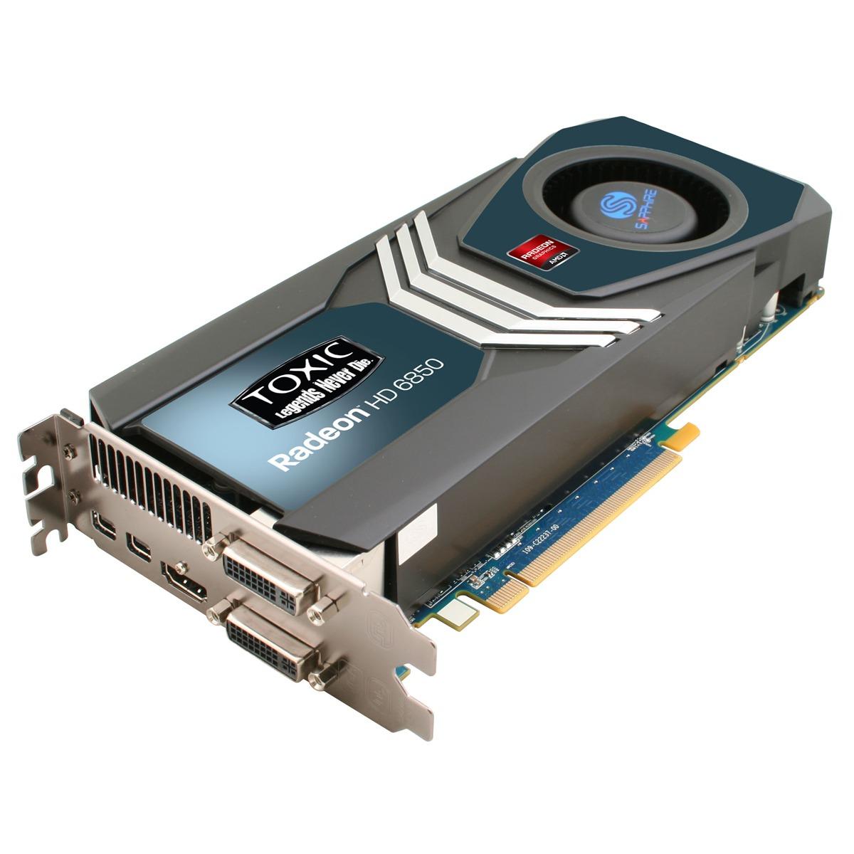 Carte graphique Sapphire Radeon HD 6850 TOXIC 1 GB 1 Go HDMI/Dual DVI/DisplayPort - PCI Express (AMD Radeon HD 6850)