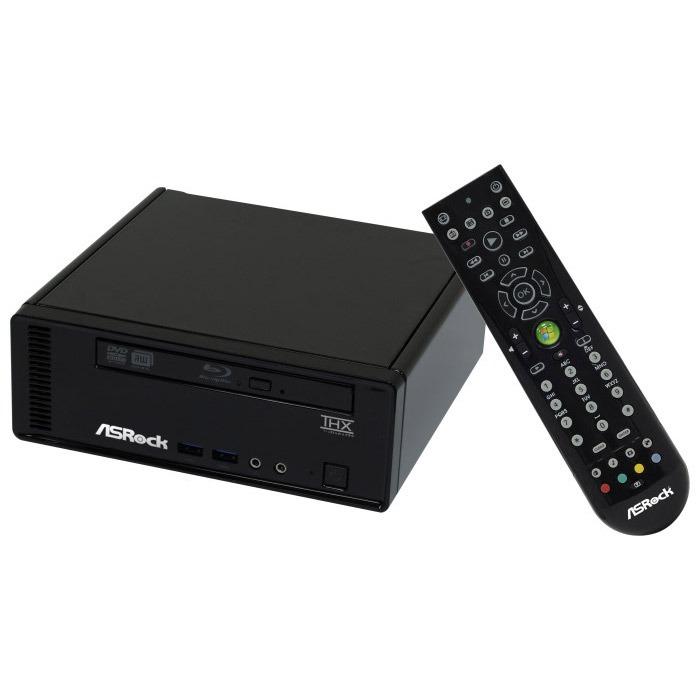 PC de bureau ASRock HTPC Core 100HT-BD/B2 Noir ASRock HTPC Core 100HT-BD/B2 Noir - Intel Core i3-370M 4 Go 500 Go Intel HD Lecteur Blu-ray/Graveur DVD Wi-Fi N (sans écran)