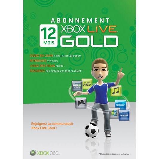 microsoft carte d 39 abonnement xbox live gold de 12 mois. Black Bedroom Furniture Sets. Home Design Ideas
